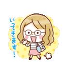 かわいいメガネ女子スタンプ(日常編)(個別スタンプ:03)