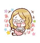 かわいいメガネ女子スタンプ(日常編)(個別スタンプ:07)