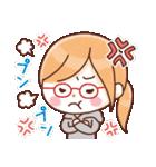 かわいいメガネ女子スタンプ(日常編)(個別スタンプ:08)