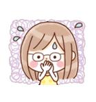 かわいいメガネ女子スタンプ(日常編)(個別スタンプ:10)