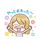 かわいいメガネ女子スタンプ(日常編)(個別スタンプ:11)