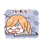かわいいメガネ女子スタンプ(日常編)(個別スタンプ:12)