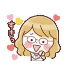 かわいいメガネ女子スタンプ(日常編)(個別スタンプ:15)