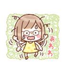 かわいいメガネ女子スタンプ(日常編)(個別スタンプ:18)