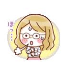 かわいいメガネ女子スタンプ(日常編)(個別スタンプ:19)