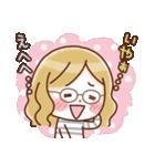 かわいいメガネ女子スタンプ(日常編)(個別スタンプ:23)