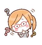 かわいいメガネ女子スタンプ(日常編)(個別スタンプ:24)