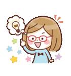 かわいいメガネ女子スタンプ(日常編)(個別スタンプ:25)