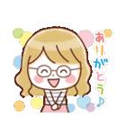 かわいいメガネ女子スタンプ(日常編)(個別スタンプ:27)