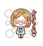 かわいいメガネ女子スタンプ(日常編)(個別スタンプ:37)