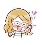 かわいいメガネ女子スタンプ(日常編)(個別スタンプ:39)