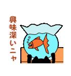 【猫言葉】クロのつぶやきだニャ(個別スタンプ:21)