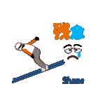 スキージャンプ MV(個別スタンプ:13)