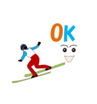 スキージャンプ MV(個別スタンプ:20)