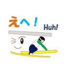 スキージャンプ MV(個別スタンプ:22)