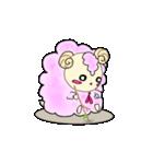 綿菓子羊のぽぅ(個別スタンプ:01)