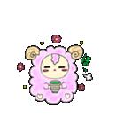 綿菓子羊のぽぅ(個別スタンプ:02)