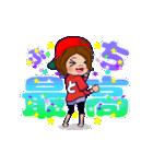 動く!頭文字「と」女子専用/100%広島女子(個別スタンプ:03)