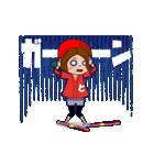 動く!頭文字「と」女子専用/100%広島女子(個別スタンプ:19)
