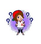 動く!頭文字「と」女子専用/100%広島女子(個別スタンプ:22)