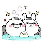 うさぎ&ぬこ100%秋スタンプ(個別スタンプ:09)