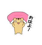 動くよ!キジトラにゃんこ(個別スタンプ:01)