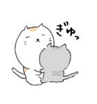 白猫と灰猫のほんわかまったりスタンプ(個別スタンプ:01)