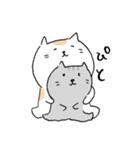 白猫と灰猫のほんわかまったりスタンプ(個別スタンプ:03)