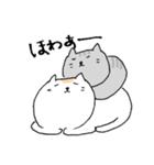 白猫と灰猫のほんわかまったりスタンプ(個別スタンプ:04)