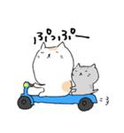白猫と灰猫のほんわかまったりスタンプ(個別スタンプ:10)