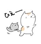 白猫と灰猫のほんわかまったりスタンプ(個別スタンプ:22)