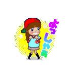 動く!頭文字「モ」女子専用/100%広島女子(個別スタンプ:6)