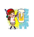 動く!頭文字「モ」女子専用/100%広島女子(個別スタンプ:16)