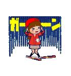 動く!頭文字「モ」女子専用/100%広島女子(個別スタンプ:19)