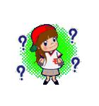 動く!頭文字「モ」女子専用/100%広島女子(個別スタンプ:22)