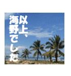 海野さんのスタンプ(個別スタンプ:10)