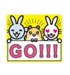 FSラビット GO!! YOU CAN(個別スタンプ:16)