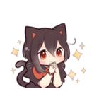 黒猫少女(個別スタンプ:02)
