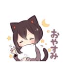 黒猫少女(個別スタンプ:07)