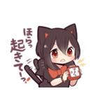 黒猫少女(個別スタンプ:08)