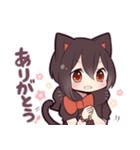 黒猫少女(個別スタンプ:10)