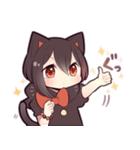 黒猫少女(個別スタンプ:11)
