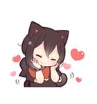 黒猫少女(個別スタンプ:13)