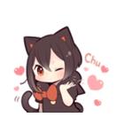 黒猫少女(個別スタンプ:14)