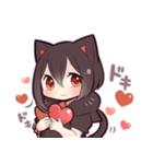 黒猫少女(個別スタンプ:15)