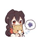 黒猫少女(個別スタンプ:16)