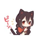 黒猫少女(個別スタンプ:17)