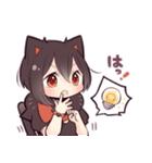 黒猫少女(個別スタンプ:18)