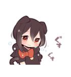 黒猫少女(個別スタンプ:21)