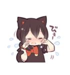 黒猫少女(個別スタンプ:22)